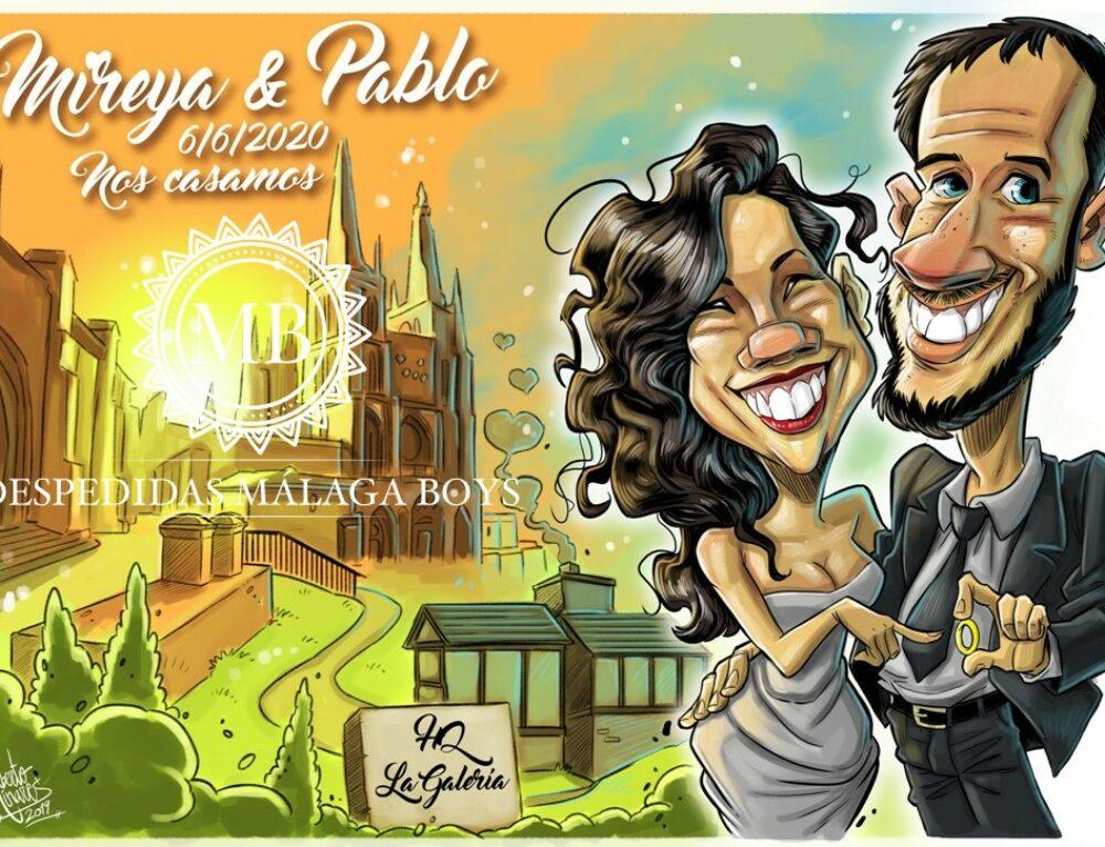 Caricaturas para bodas y despedidas en 2020